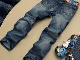 春款青年男士牛仔裤男装修身 直筒韩版水洗