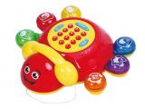 美贝乐正品批发 早教七星瓢虫电话机故事音乐电动玩具