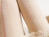 甜美小清新学院百搭日系条纹蕾丝花朵白色丝