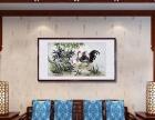 武汉酒店会所装饰字画纯手绘国画公鸡吉祥现货定制批发裱框安装