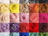 纽西兰进口 彩色羊毛条 毛毡 羊毛毡 戳戳乐 羊毛毡DIY 厂家