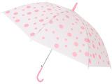 厂家直销 圆点环保透明雨伞 韩版创意圆点雨伞 夏季圆点雨伞批发