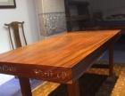奥坎原实木大板桌长方形老板桌茶桌会议桌办公桌厚实板式红木家具