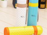 韩国正品新款保温杯可爱圆点子弹头保温杯糖果色学生杯一件代发