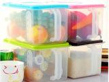可叠加厨房密封罐 带手柄塑料收纳密封盒 冰箱橱柜带盖储物