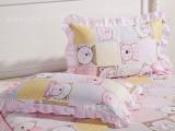 厂家直销 全棉韩版枕套 可爱花边枕套 床上用品批发 家纺厂家