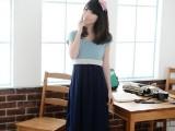 【荐】J12135韩版品牌孕妇装 夏季正品孕妇裙 活力色拼接哺乳