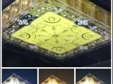 新款奢华金色水晶灯现代简约 方形水晶灯客厅灯 led吸顶灯910