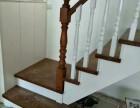 武汉福森楼梯定制实木楼梯扶手踏步整体楼梯家用室内楼梯厂家直销