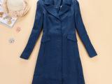 欧洲大码女装欧美羊毛大衣加大码女装冬装外套2014冬天原单尾货