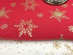 厂家长期供应亮片雪花圣诞节装饰布料各种单面绒喷金压花面料