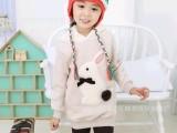 2014最新女童兔子头加厚卫衣棉外套童棉衣外套厂家直销一件代发