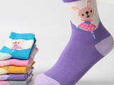 儿童袜子纯棉卡通中筒秋冬款加厚袜子小中大女童1-15岁棉袜批发