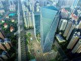 市政府万达广场200米高写字楼自带空中花园