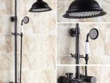厂家批发欧式复古淋浴花洒套装 全铜黑古铜淋浴套装 带升降