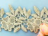 (1)-金色亮丝树形家纺头饰花边辅料装饰手工制衣辅料 花边批发
