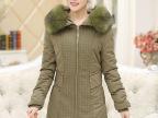 中长款大码中年羽绒棉服女2014冬装新妈妈装棉衣加厚保暖棉袄外套