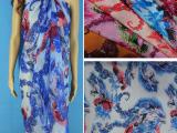 现货供应化纤面料 印花雪纺 民族裙面料  泳装面料 雪纺布批发