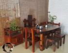 老船木实木家具定制功夫茶台阳台小茶桌低价出售