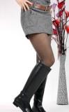 欧洲站2013秋冬季新款女鞋低跟真皮女靴