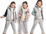 2014冬季童装批发 儿童运动套装 卡通纯棉卫衣裤套装 童装两件
