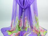 春秋新款印花巴厘纱围巾韩版女长款花朵围巾