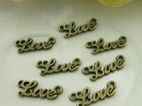 diy饰品配件批发 20毫米zakka复古合金LOVE字母挂片2