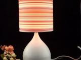 高档灯饰家居台灯 卧室客厅装饰灯 酒店布艺灯具 按钮式布艺台灯