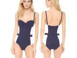 外贸原单泳衣维多利亚同款女士泳装性感露背小胸聚拢连体泳衣批发