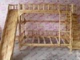 纯实木床。儿童床。滑梯床,梯柜,特价。实