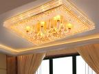 客厅灯长方形水晶灯吸顶灯欧式led酒店别墅大厅水晶灯饰灯具958