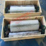 无动力滚刷清扫器化工钢厂皮带输送机毛刷式清扫器尼龙毛刷辊刷子