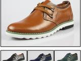 普雷艾斯 外贸英伦休闲男鞋 真皮板鞋 混批正品韩版 温州爆款皮鞋
