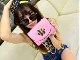 韩版新款潮女小包糖果色定型单肩斜跨女包复古链条包韩版挎包批发