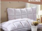 罗莱家纺单人面包羽绒枕芯透气枕头欧美式方格特价包邮厂家批发