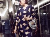 2014夏装新款欧美俏皮街拍辛普森V领宽松短袖女t恤