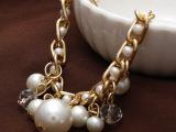 欧美复古手链批发 流行时尚大珍珠水钻手饰手链 速卖通货源