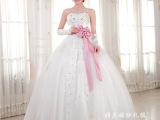 新款韩版时尚高贵抹胸蝴蝶结新娘婚纱 公主晚礼服婚纱