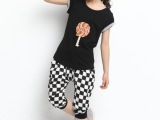 棒棒糖童装女童格子中大女童夏装2014新款短袖运动韩版儿童套装