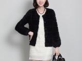 秋冬新款气质水貂绒开衫貂绒外套灯笼袖毛衣修身貂绒大衣女毛衣