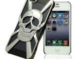 骷髅头手机壳iphone5/5s 手机壳苹果4/4s 手机套电镀