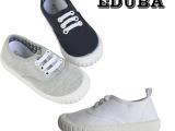 春秋EDUBA 英伦外贸儿童帆布鞋女男童布鞋宝宝鞋幼儿软底童鞋