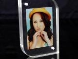 亚克力水晶相框相片透明亚克力相架海报夹证书夹高档桌牌8寸