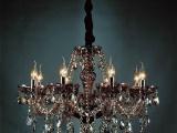 供应**奢华进口水晶灯饰客厅餐厅欧式简约蜡烛灯