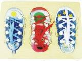 亲子教具|木制玩具|系鞋带拼板|彩色高品质|手抓板