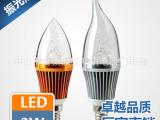蜡烛灯led灯泡 光源E14小螺口尖泡拉尾3W 5W 特价厂家批