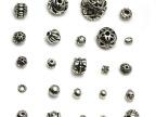 DIY饰品 藏银配件散珠串珠材料批发 圆珠隔珠