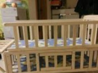 新买的婴儿床,花了300块,宝贝就睡了几次,放家里也是好