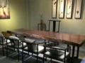现代简约实木大板原木红木家具办公会议桌黑檀巴花奥坎