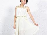 2013夏季清仓特价杭州芭莎诺瓦精品女装韩版蕾丝拼接雪纺连衣裙